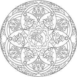 Mandala Clock and Christmas tree