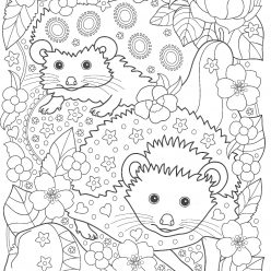 Hedgehogs in the garden with pears