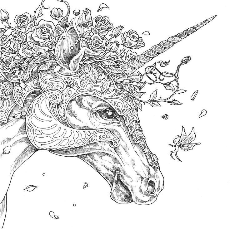Unicorn and roses