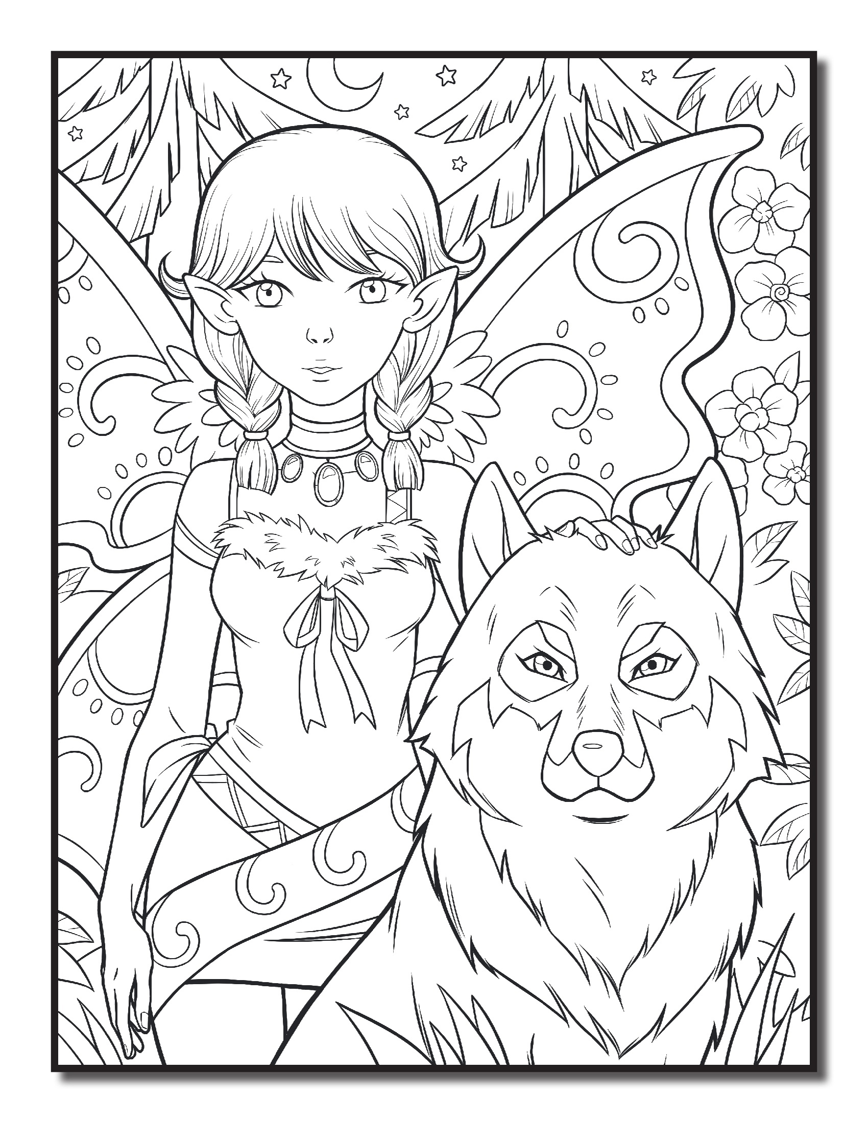 The fairy hunter and the wolf