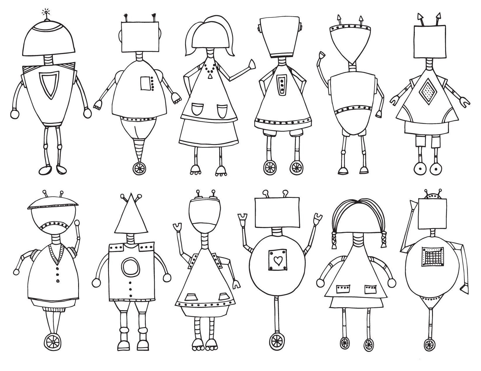Robots of different types