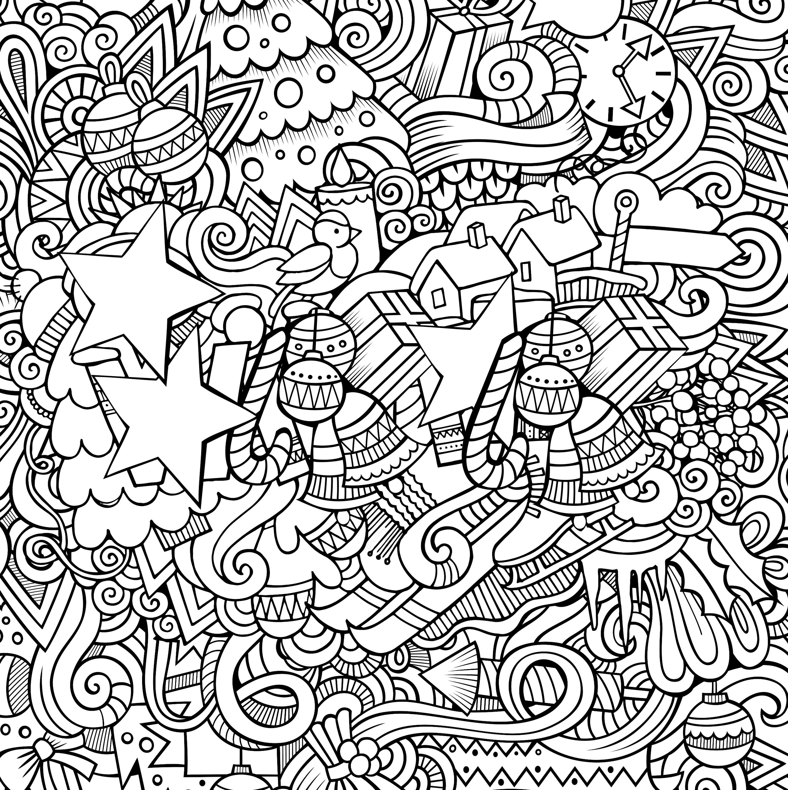 Complex coloring New year