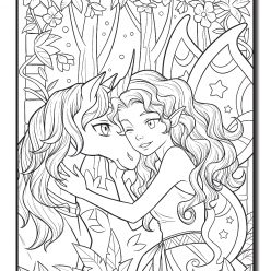 Fairy with unicorn kawaii