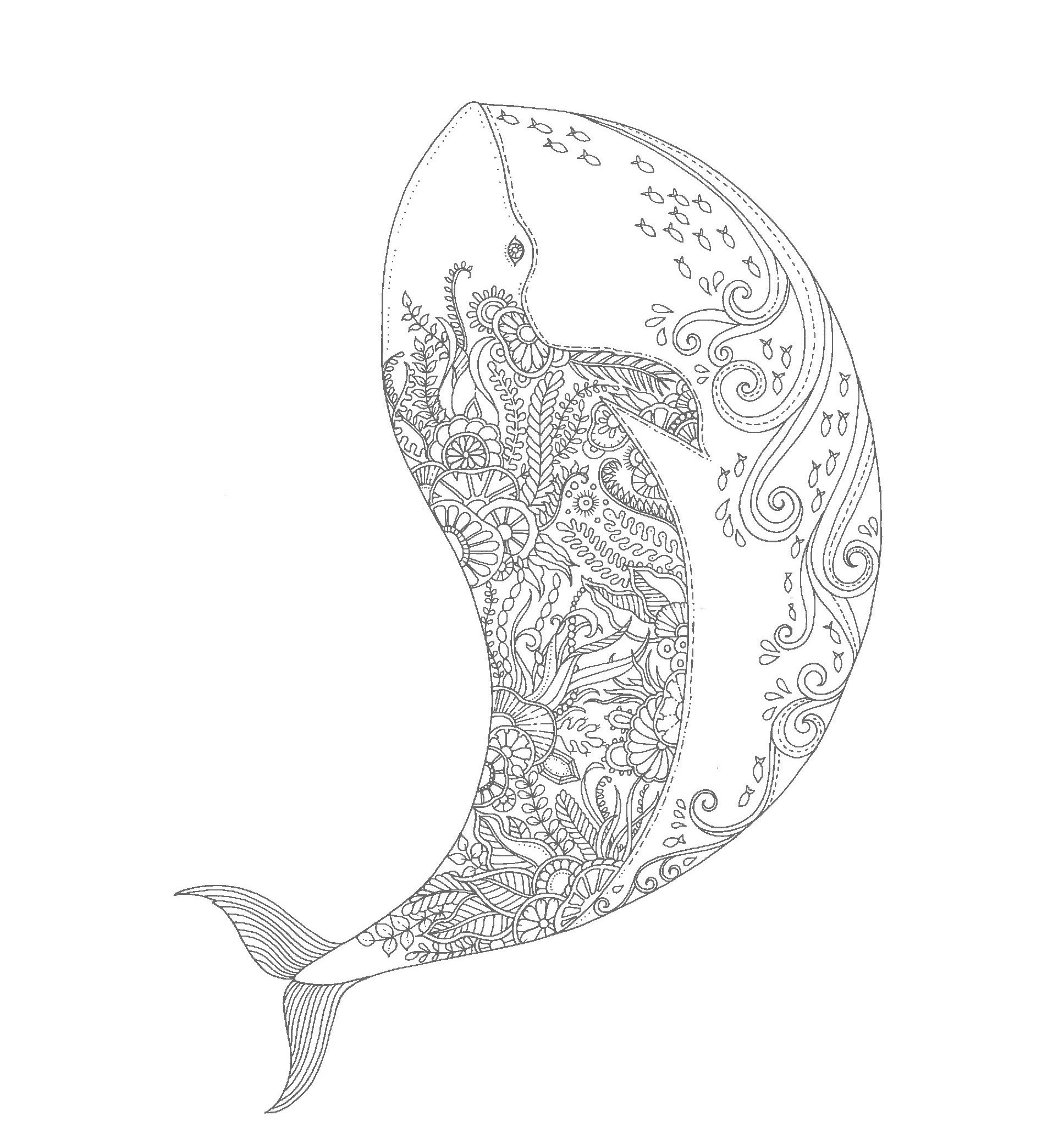 Whale marine pattern