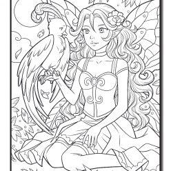 Fairy with eagle