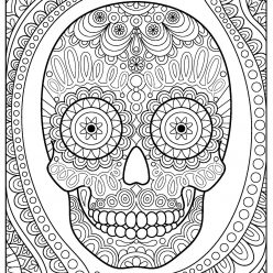 Cool skull with ornament