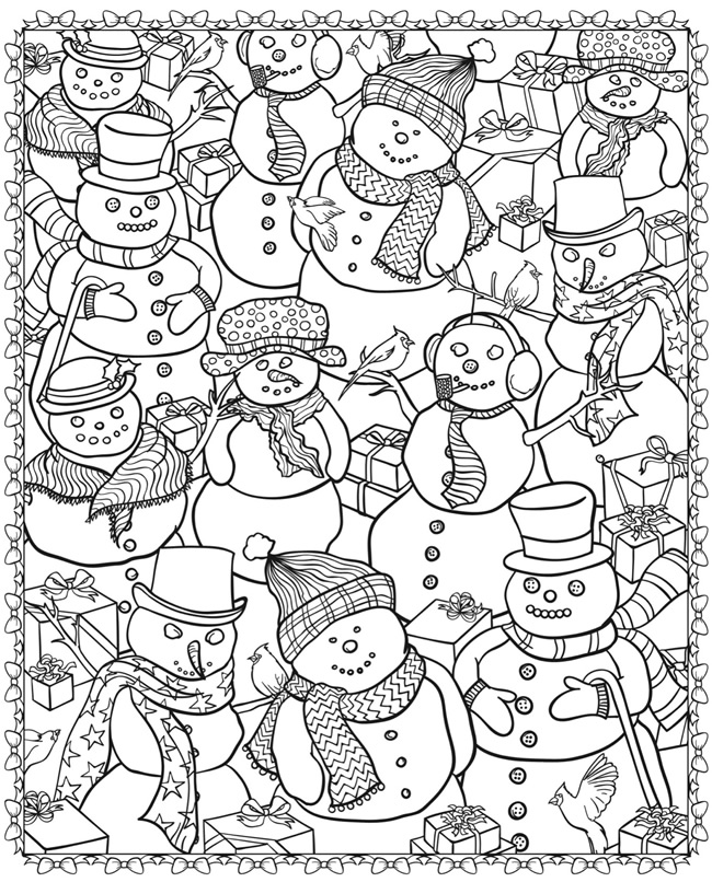 Snowmen with gifts