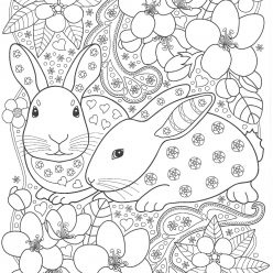 Rabbits with flowers