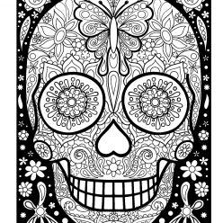 Painted skull for girls