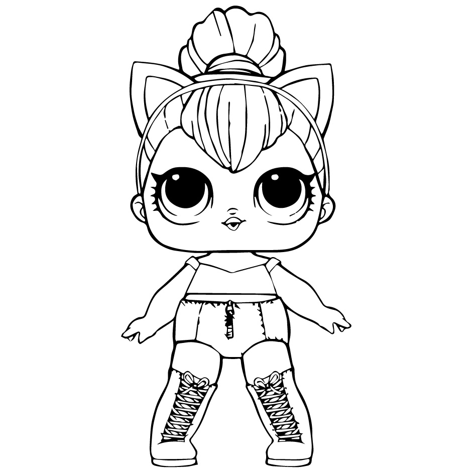 Doll LOL kitty Queen - Coloring pages for you