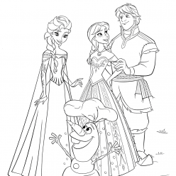 Anna, Kristof and Elsa