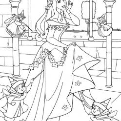 Aurora with fairies