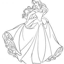 Aurora in a wedding dress