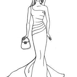 Barbie in evening dress