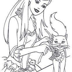 Princess Barbie with animal