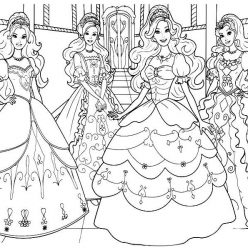 Barbie with her friends at the ball