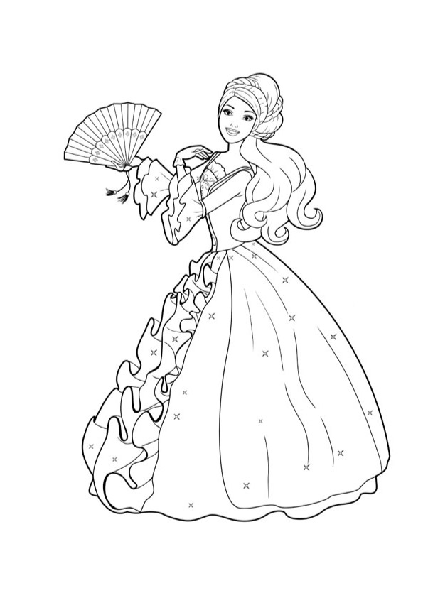 Barbie in a ball gown