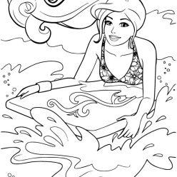 Barbie on a surfboard