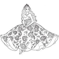 Barbie in a beautiful gown