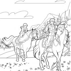 Barbie horse riding