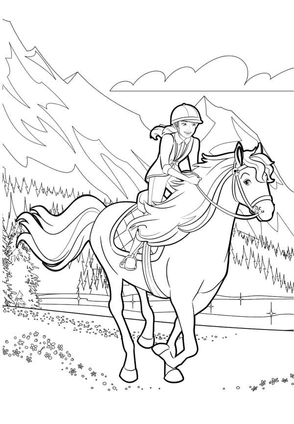 Barbie horse - Coloring pages for you