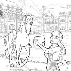 Barbie on a horse farm