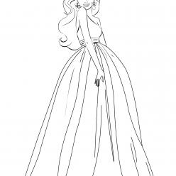 Barbie long dress