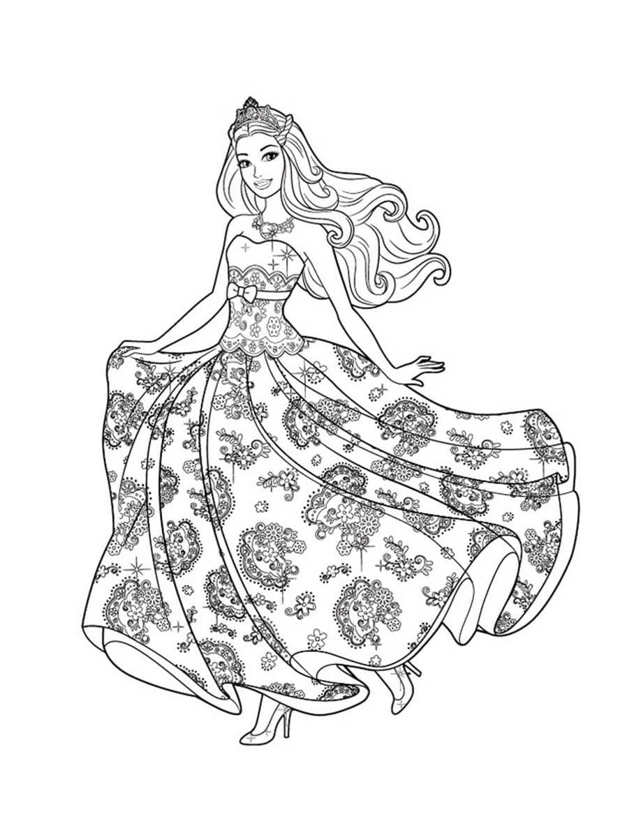Barbie doll in a nice dress