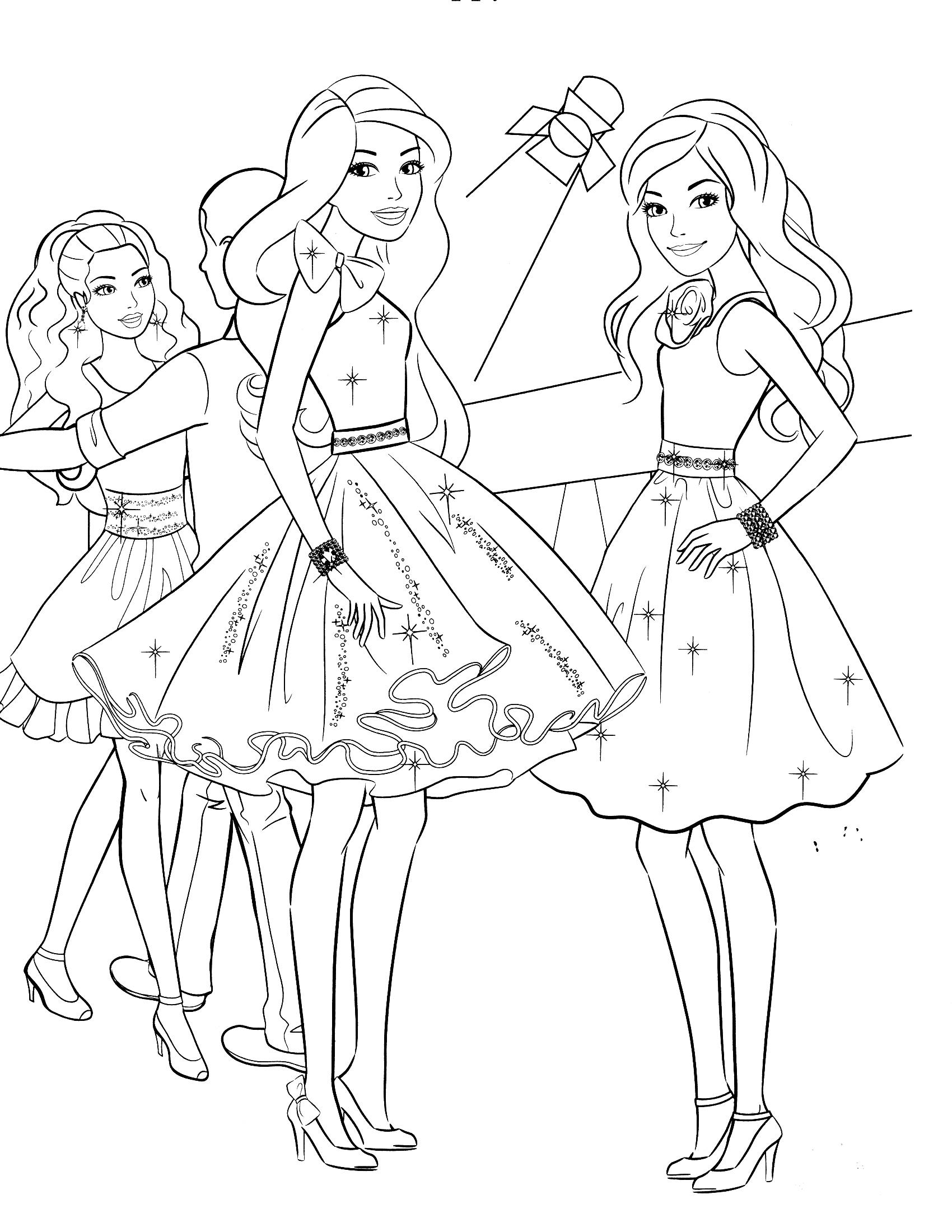 Barbie with friends at the dance