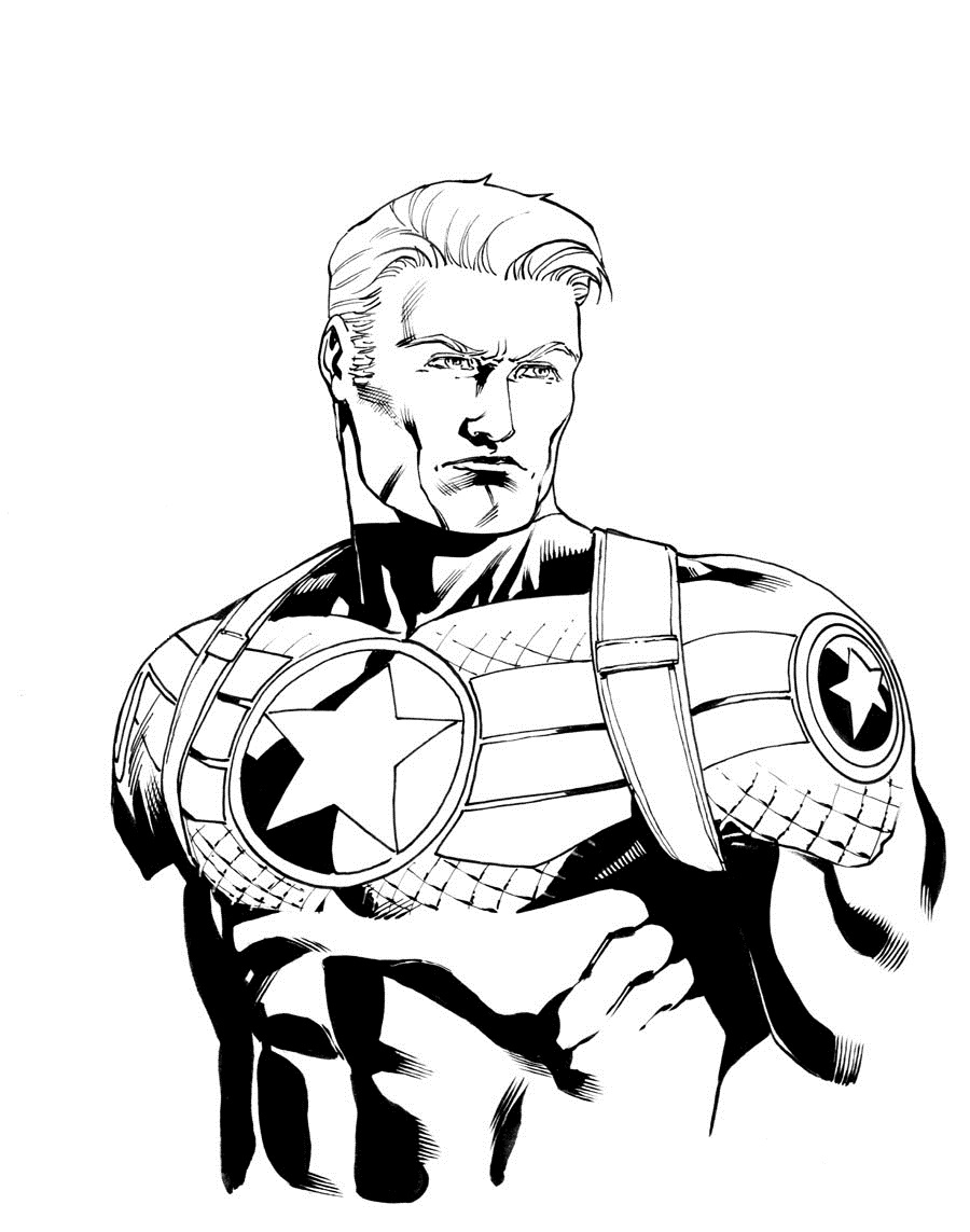 Captain America - Coloring pages for you