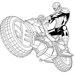Spiderman on the motorcycle