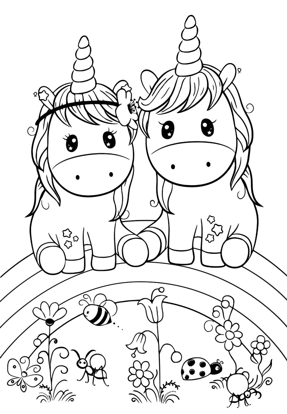 Cuties a couple of unicorns