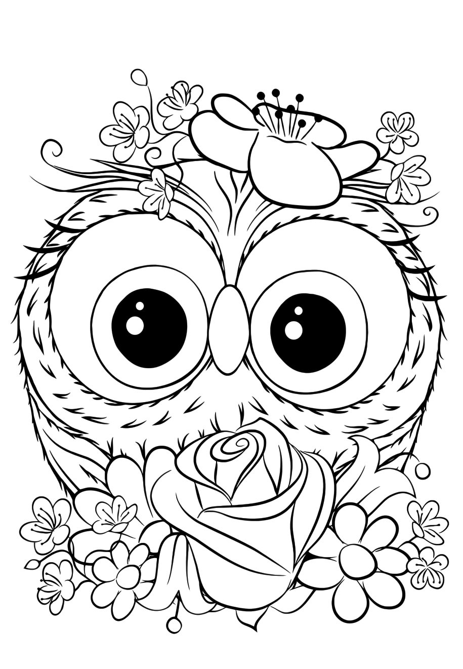 Cutie Owl - Coloring pages for you