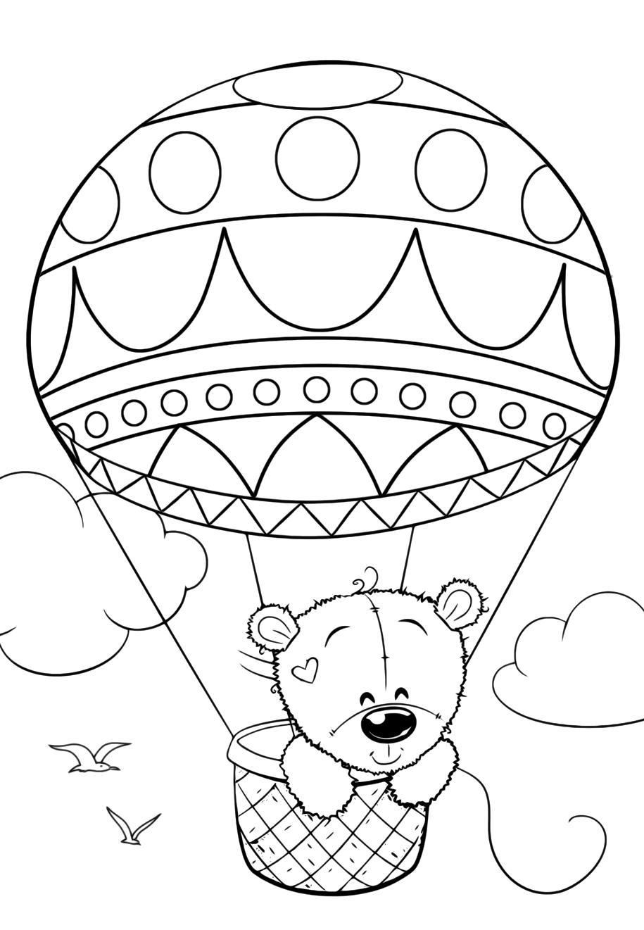 Teddy bear in a balloon