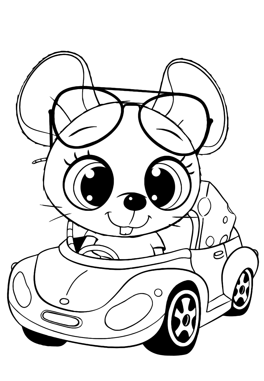Cutie Mouse in the machine