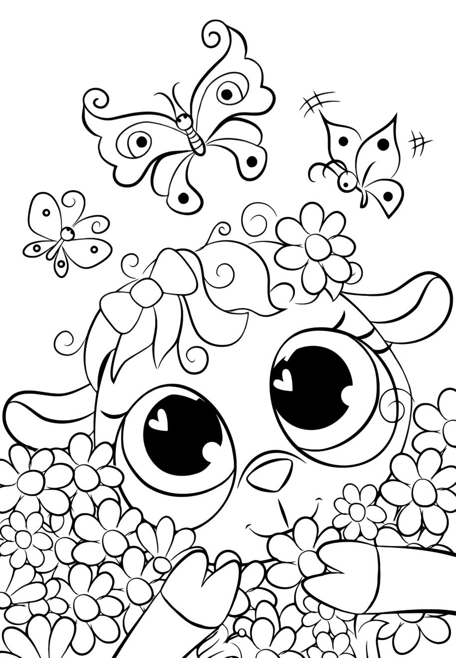Cute Lamb in the daisies