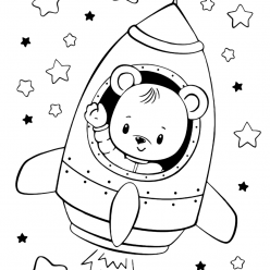 Bear in the rocket