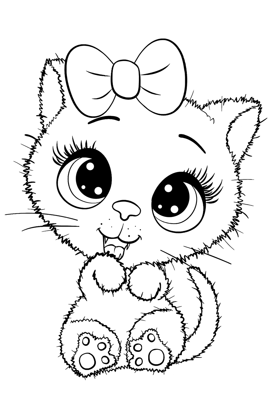 Kitty - Coloring pages for you