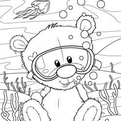 Teddy diver