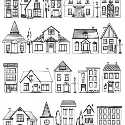 A lot of different houses and cottages
