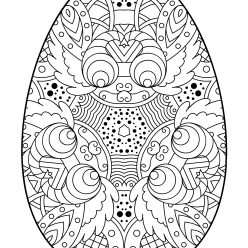 Easter egg with an intricate pattern