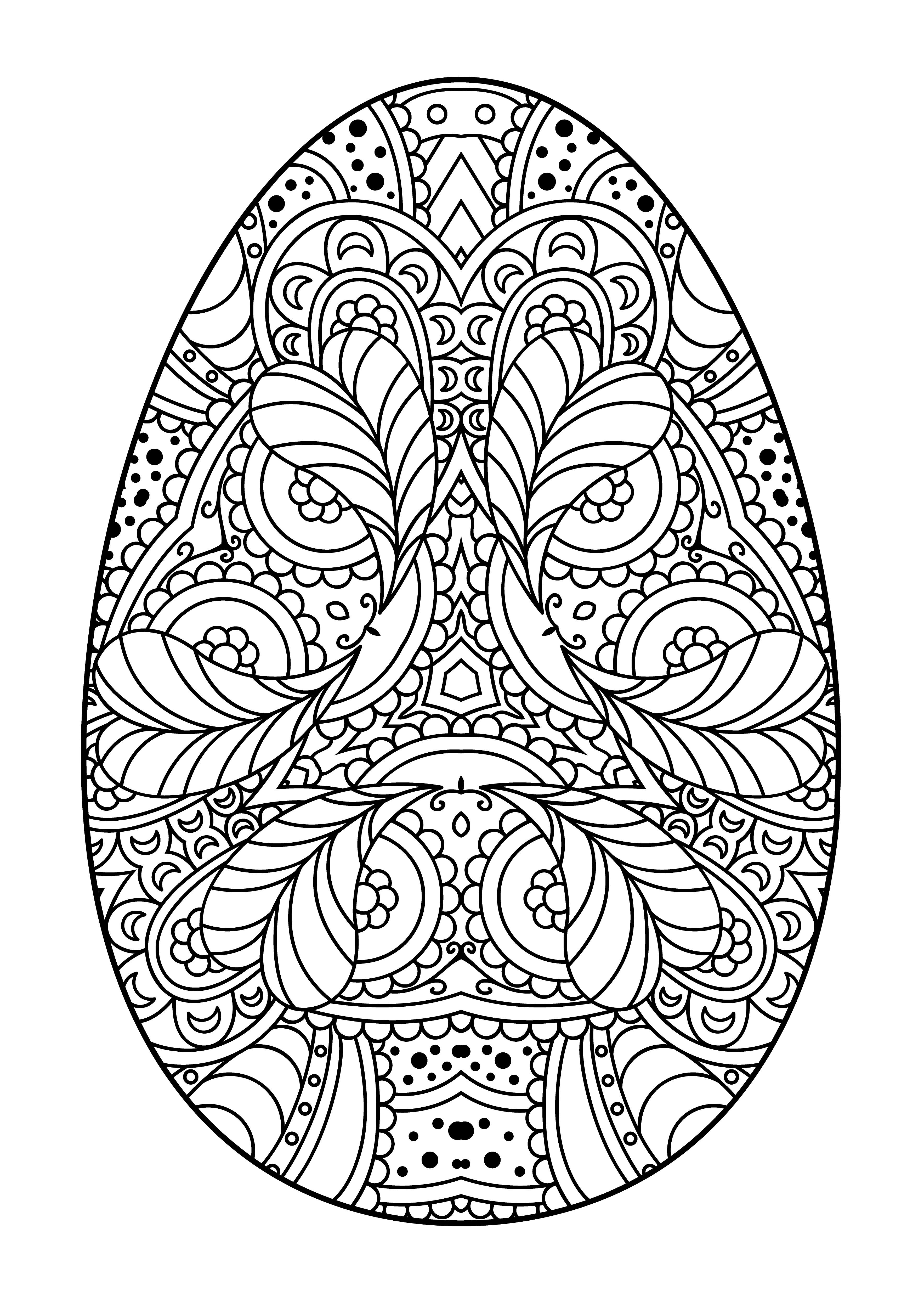 Egg pattern for Easter