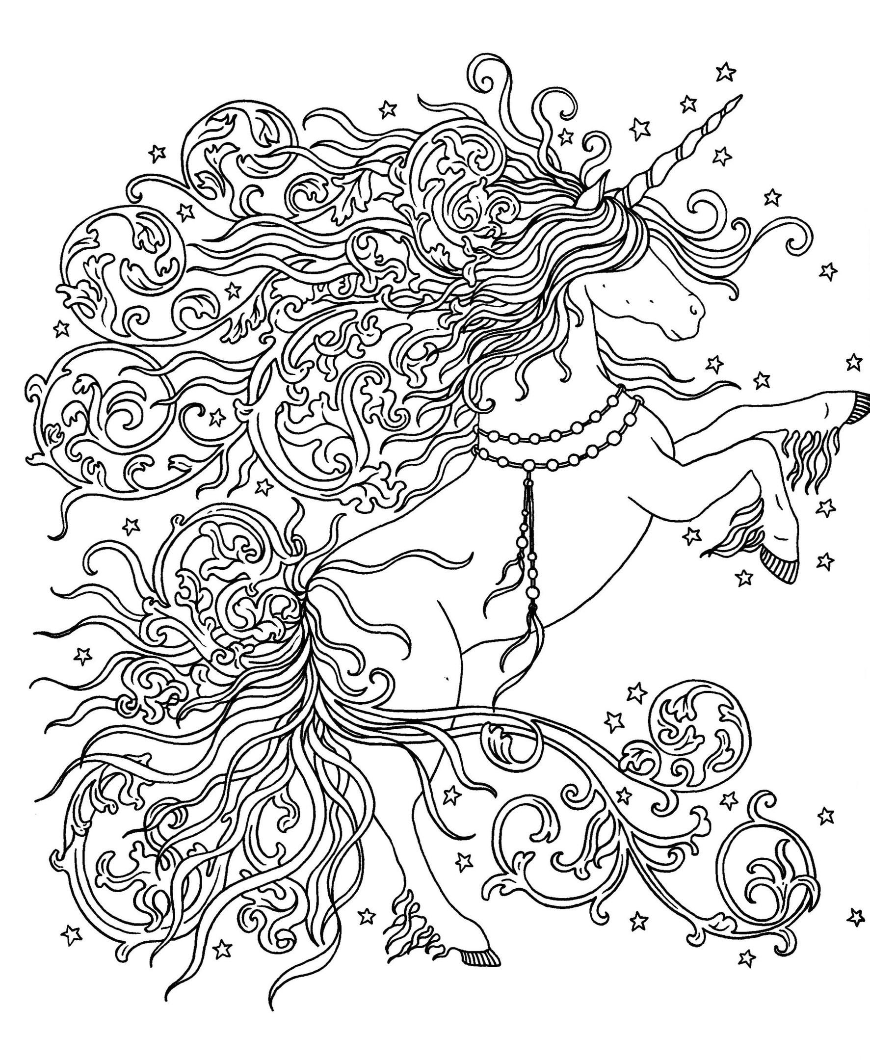 A unicorn with a magical mane
