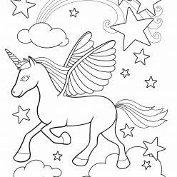 Unicorn in the clouds