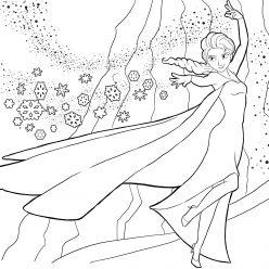 Queen Elsa with snow