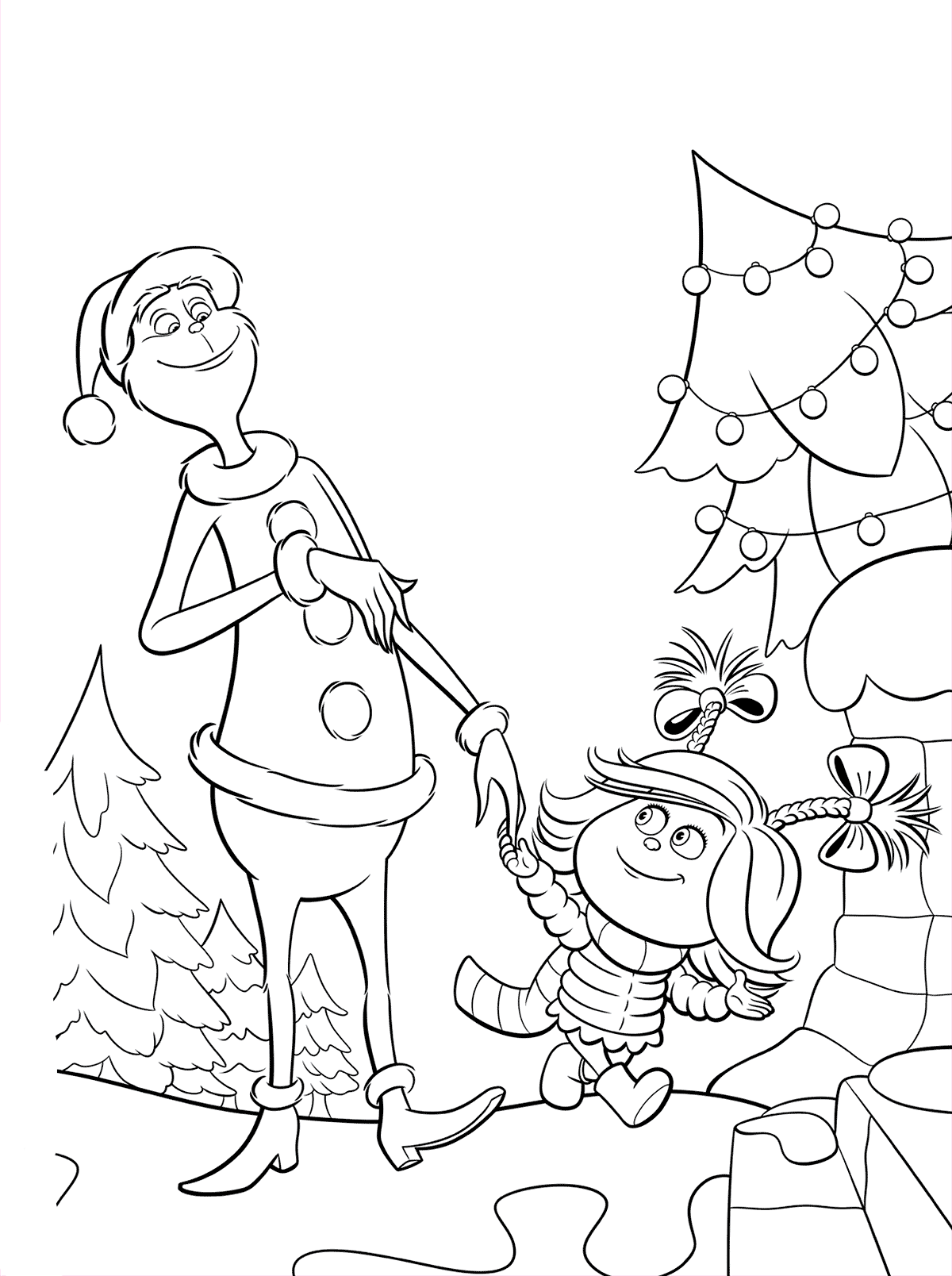 Cindy Lou Grinch is calling for dinner - Coloring pages ...