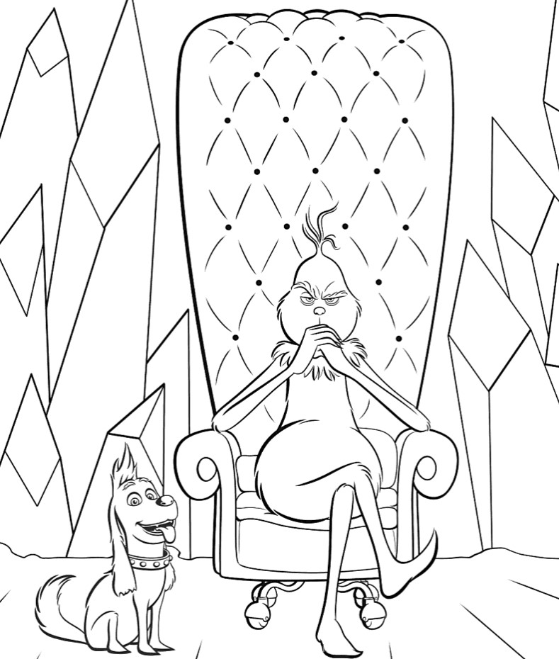 Mr. Grinch - Coloring pages for you