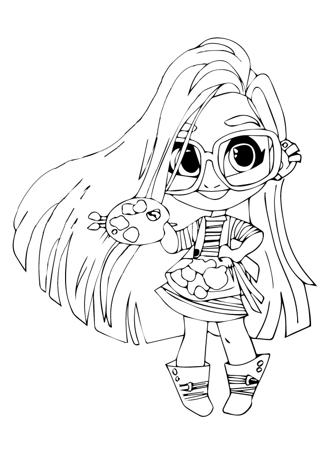 Sallee (Sally) paint - Coloring pages for you