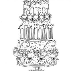 A tiered wedding cake