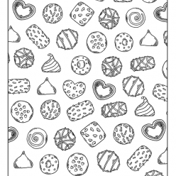 Sweets and candies coloring pages - Hellokids.com | 248x248